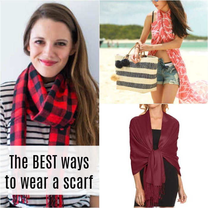 We have 10+ different ways to wear a scarf. If you love scarves but need new ideas, try these cute ways to wear a scarf that you might not have thought of.