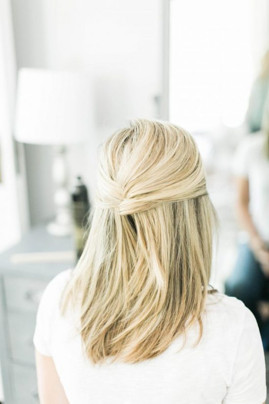 We have over 15 half up half down hairstyles that anyone can do including busy moms. These styles are easy to do and look put together and polished.