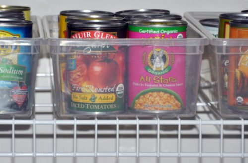 Learn how to organize canned food with these easy canned food storage ideas. Over 15 canned food storage hacks that will get your pantry in order.