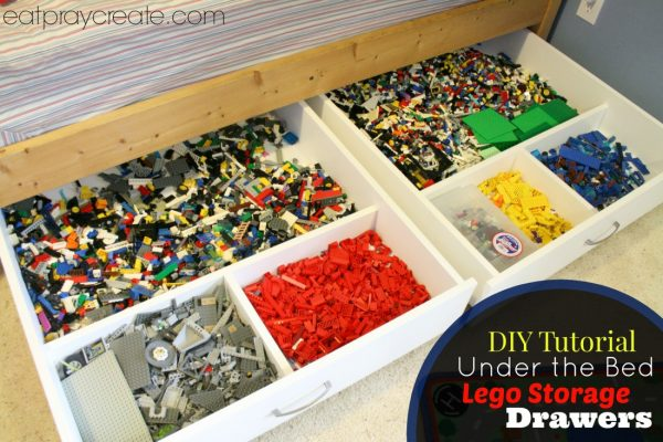 Are Lego's taking over your house? Try these clever 15+ Lego storage ideas to get everything in order and make Lego time even more fun.