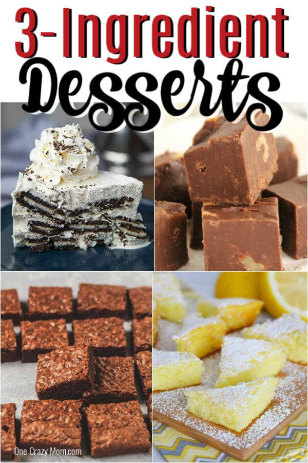 Enjoy dessert any day of the week with these easy 3 ingredient desserts. From cakes and cookies to treats and more, we have 25 tasty 3 ingredient desserts.