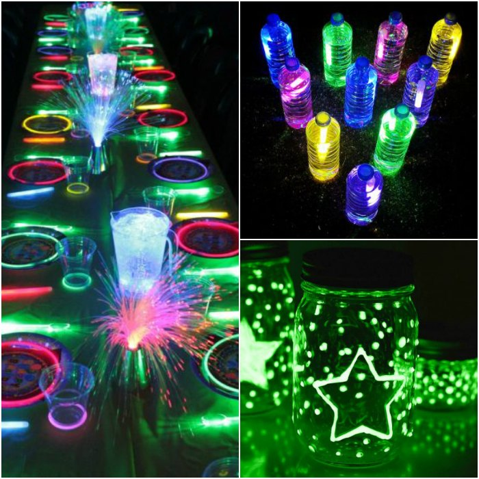 Glow in the dark party ideas - 11 glow in the dark birthday party