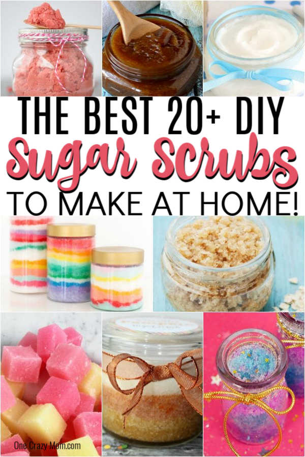 We have the Best DIY Sugar Scrubs you can easily make at home. Find over 20 diy sugar scrubs that are luxurious and gift worthy!