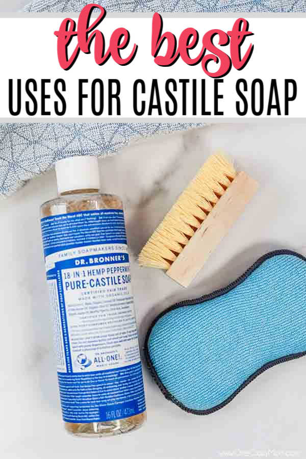 There are tons of Castile Soap Uses that you can use from skin care and body wash to laundry and more. Find 20 all natural dr bronner's castile soap uses.