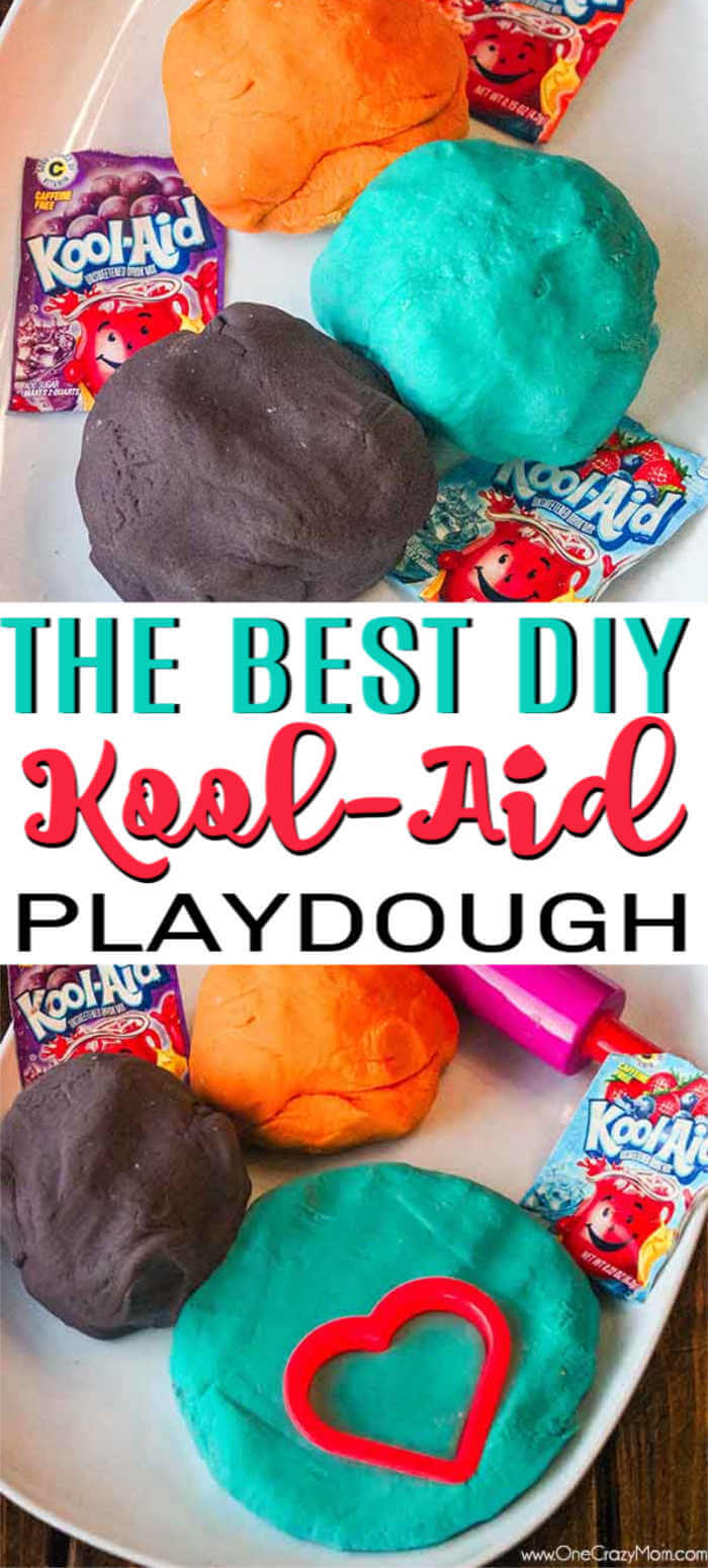 Make this easy Kool Aid Playdough for a fun activity for your kids. Homemade playdough with kool aid is simple to make and the colors are so vibrant.