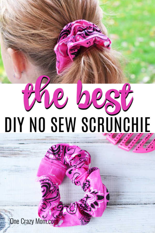 Learn how to make this easy DIY Scrunchie No Sew in just minutes. This super easy diy scrunchie is so fun to make and they turn out gorgeous.