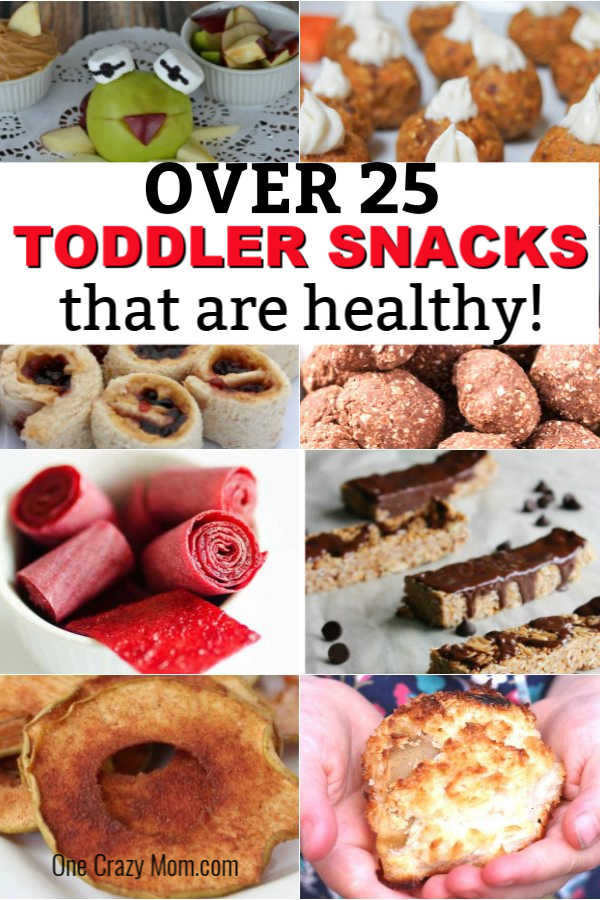 We have over 25 healthy snacks for toddlers they will love and actually want to eat! Find snacks that are easy to make and sure to be a hit.