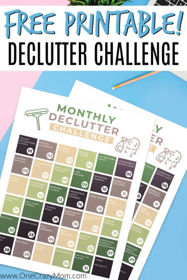 Join us as we start the 30 day declutter challenge. Get a free declutter challenge printable and reclaim your home with these easy steps.