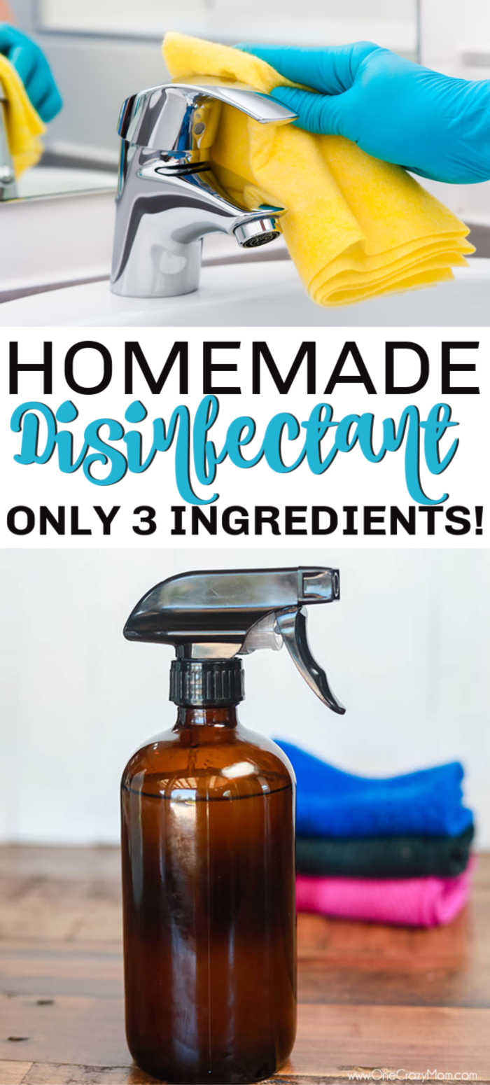 Make DIY disinfectant spray that is so easy and works great without harsh chemicals.  With just a few ingredients, you can make homemade disinfectant spray.