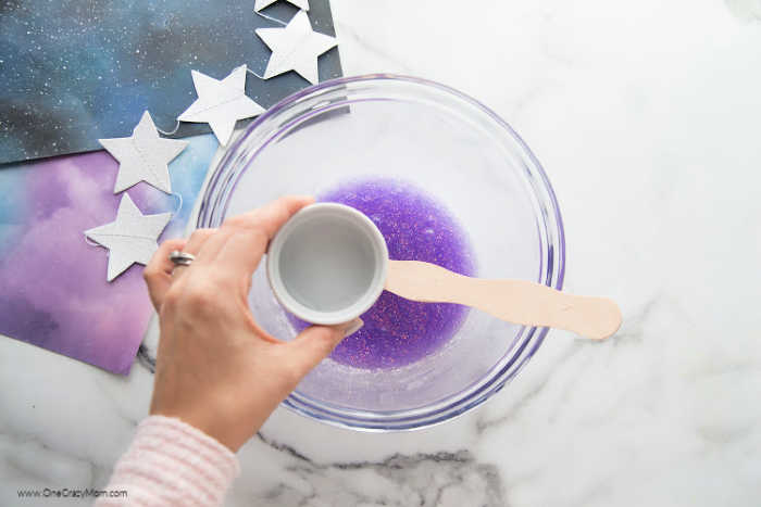 This super cool Galaxy Slime is sure to be a hit with the kids. Not only does it look amazing but it's so much fun to learn how to make galaxy slime.
