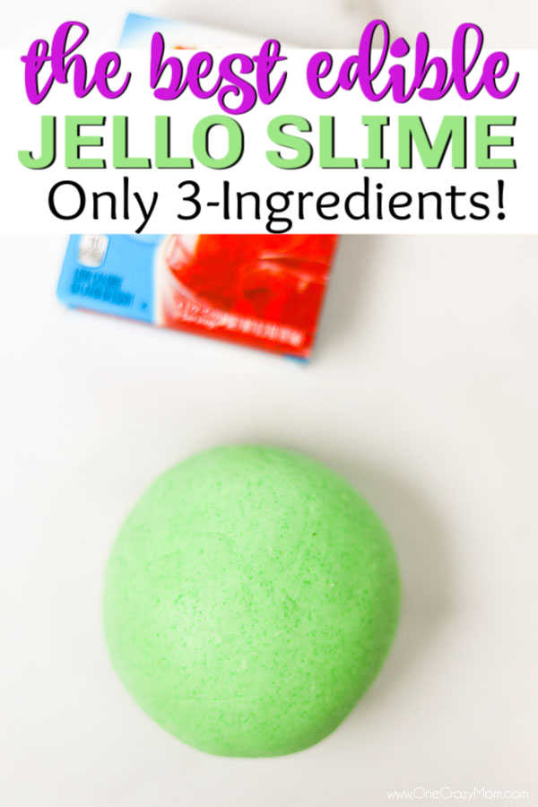Jello Slime is so cool to make and you only need 3 ingredients. Make edible jello slime today for a super fun activity with the kids that is really simple.