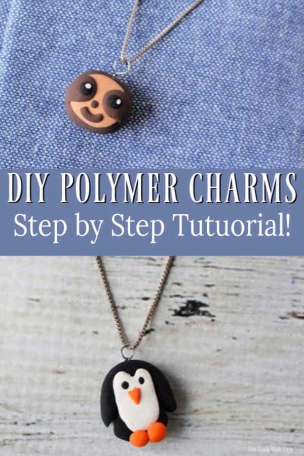 Learn how to make polymer clay charms with just a few easy steps. These are a blast to make and make the cutest charms for book bags, key chains and more.