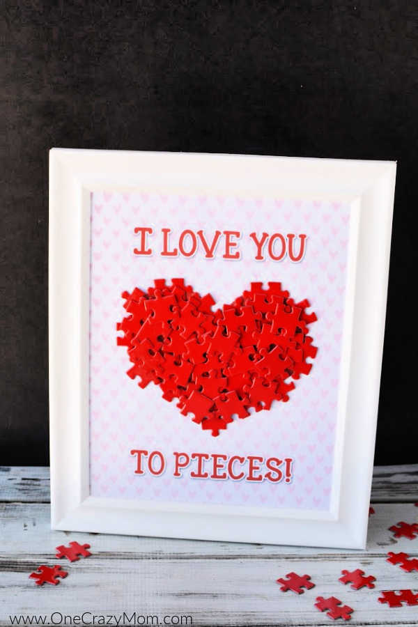 Valentine's Day is around the corner and you are going to have a blast making this I love you to pieces craft. Get your free i love you to pieces template.