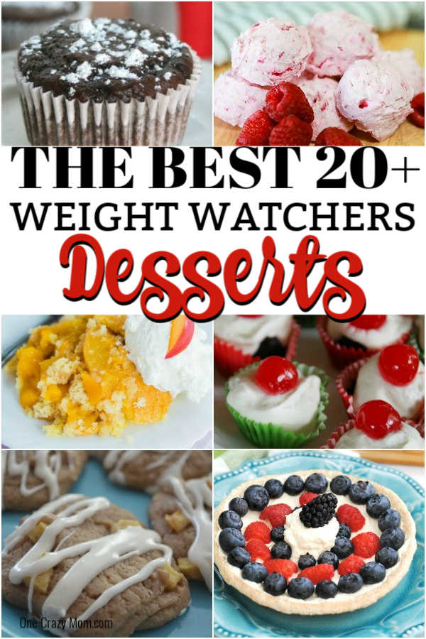Whether you are trying to lose weight or just eat healthier, these Weight Watchers Dessert Recipes are sure to impress. Try 20 Weight Watchers desserts.