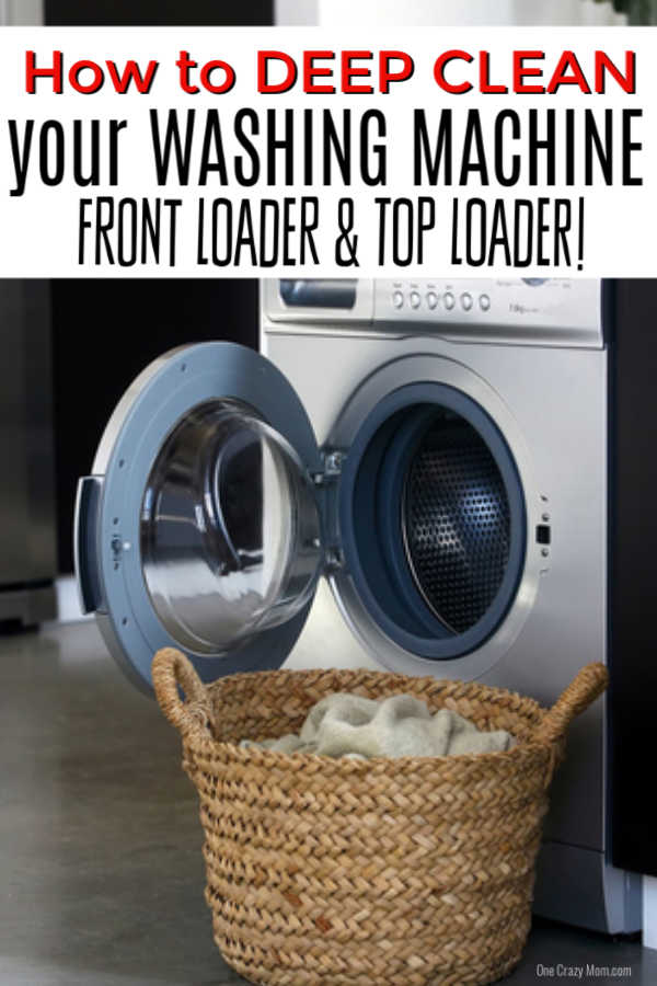 Learn how to clean washing machine all naturally. Try these easy instructions that will work for a front loading and top loading machine.