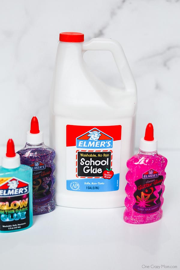 Find out the best slime supplies needed to start fun slime experiments including the best place to get slime supplies and cheap slime supplies! You'll love this slime supplies list including items that can be found at the dollar store. If your kids love slime, you'll want to review this supplies list today! #onecrazymom #slimesupplies #slime