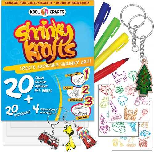 Everyone will have a blast making these 25 Shrinky Dink ideas that are easy to make. Find ideas from key chains and necklaces to magnets and much more!