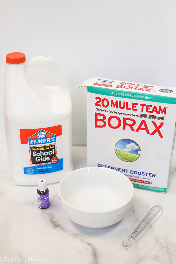 Borax Slime is a very simple DIY and great for beginners just learning to make slime. It only requires a few simple ingredients and is so easy and fun!