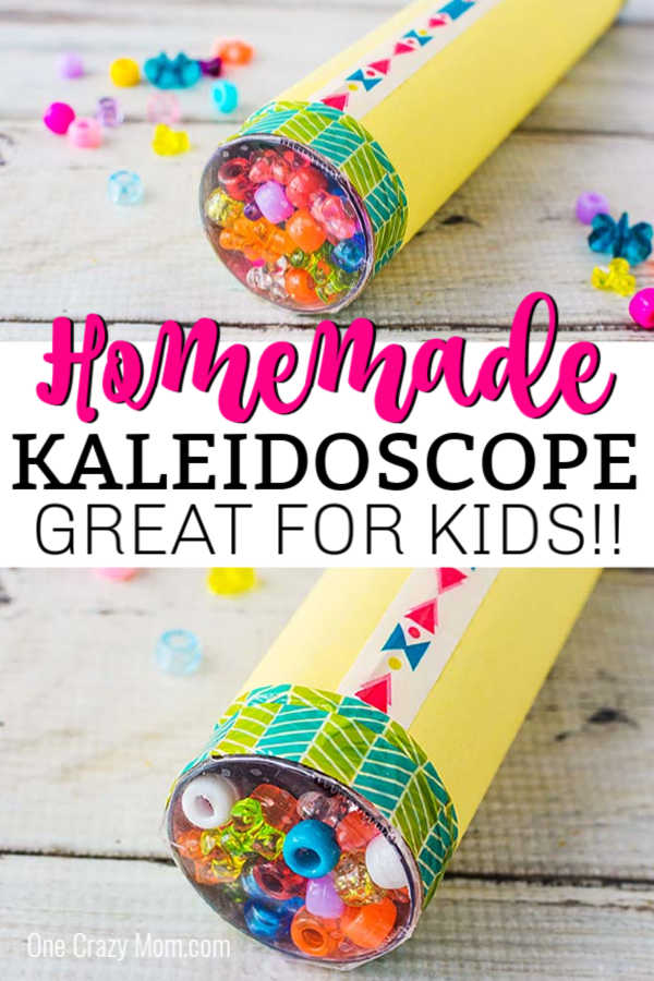 Use supplies you probably already have at home and make this DIY Kaleidoscope. The kids will have a blast making it and playing with it.