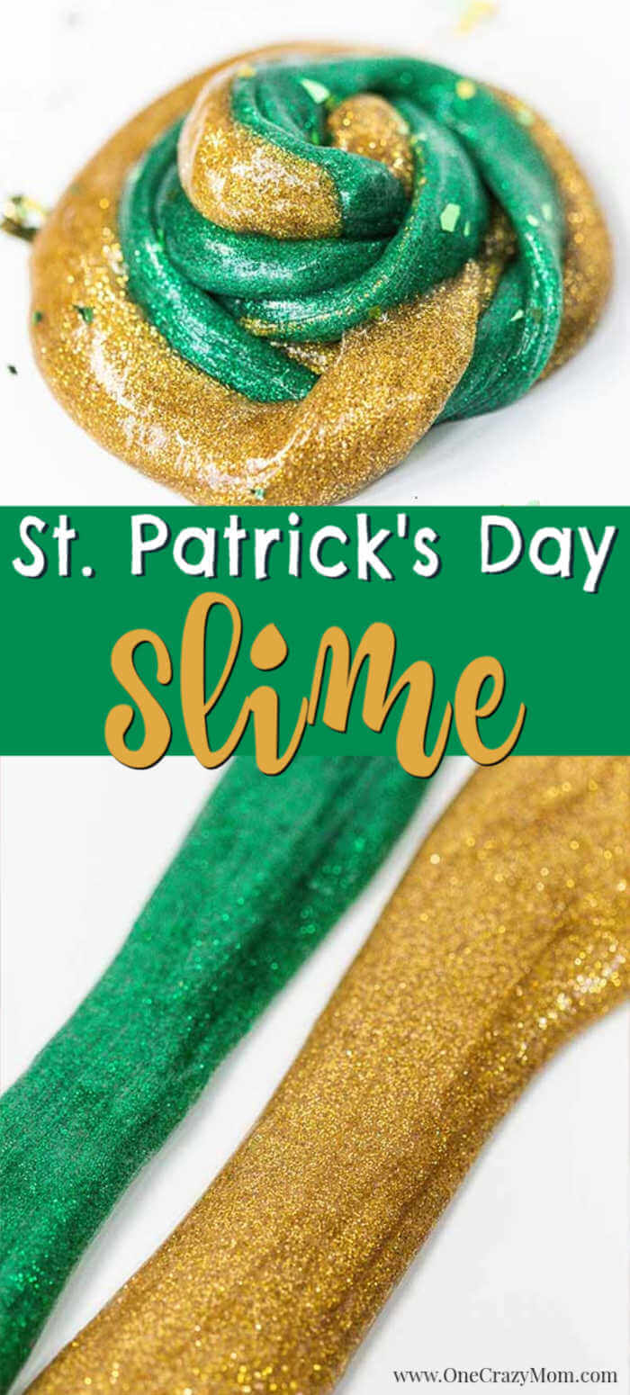 Everyone loves to make slime and your kids will go crazy over this St Patrick's Day Slime. It is so glittery and fun to make and play with.