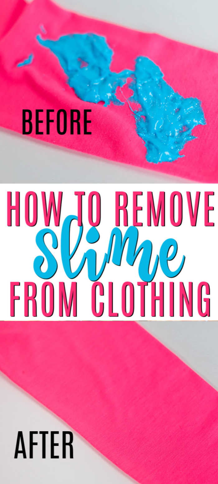 Learn how to get slime out clothes with dawn dish soap. It's simple to get slime out of clothes with white vinegar or without vinegar. How to get dried slime out of clothes. You'll love these cleaning tips and stain removers to get slime out of clothes for kids without baking soda. #onecrazymom #cleaningtips #slime