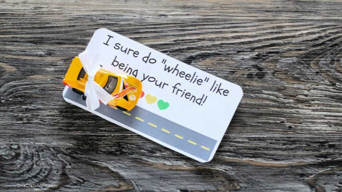 We have a fun and free printable to make these Hot Wheels Valentines. Homemade valentine cards are so easy to make and a ton of fun!