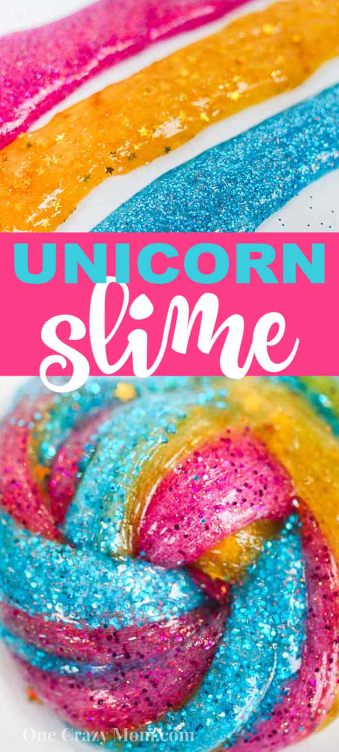 Unicorn slime is full of glitter, sparkles and pretty colors. Make this fun and whimsical Unicorn poop slime today for a great activity.