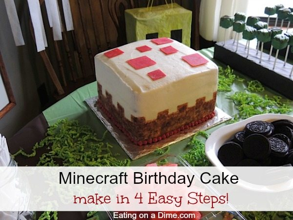 easy minecraft cake pops