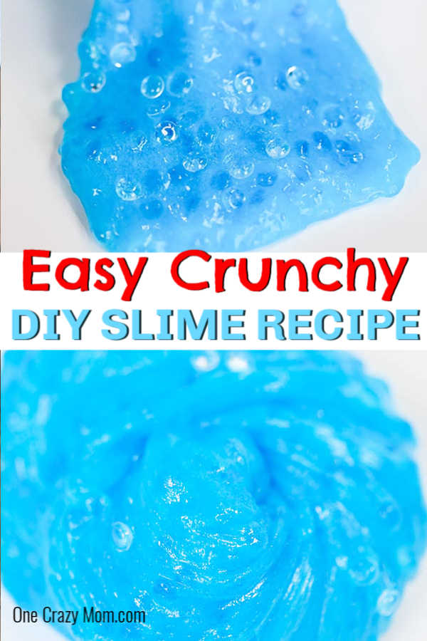 Crunchy Slime is such a fun slime to make and very easy. The kids will have a blast learning how to make crunch slime. Try it today!