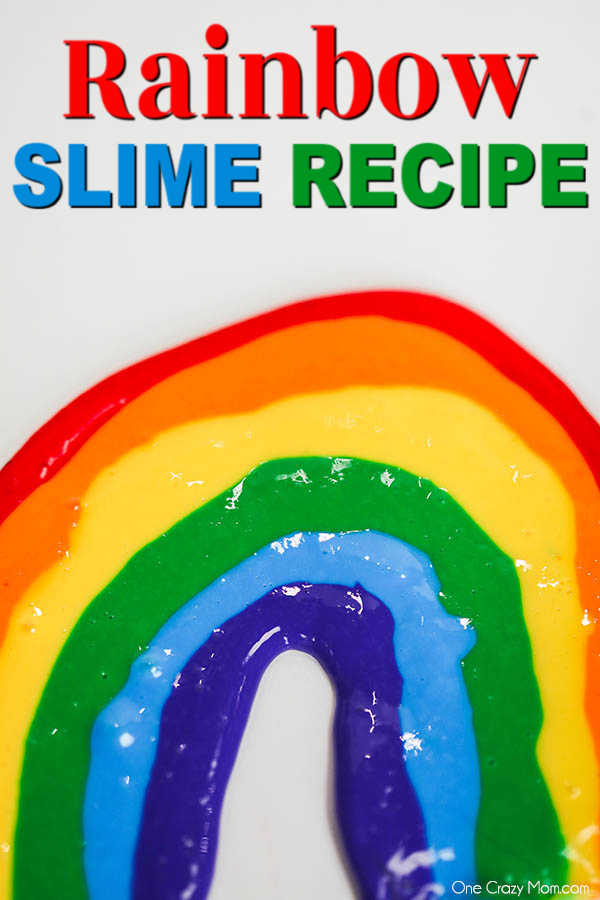 Brighten someone's day and make this colorful and pretty rainbow slime. The kids will have a blast making this and the colors are so fun and vibrant.