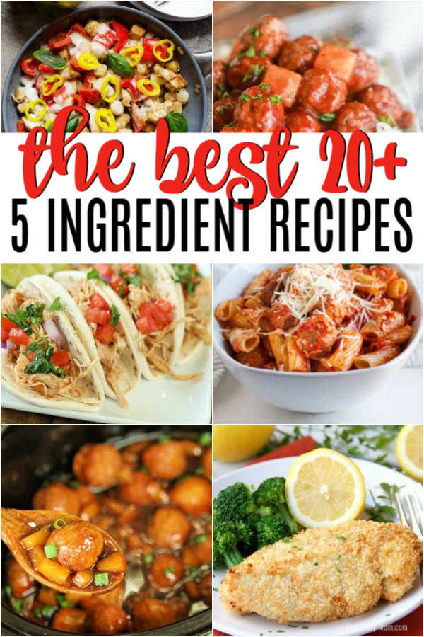 Dinner can be hectic but these 5 ingredient recipes take the stress out of dinner. Your family can enjoy amazing meals with very little time or effort.