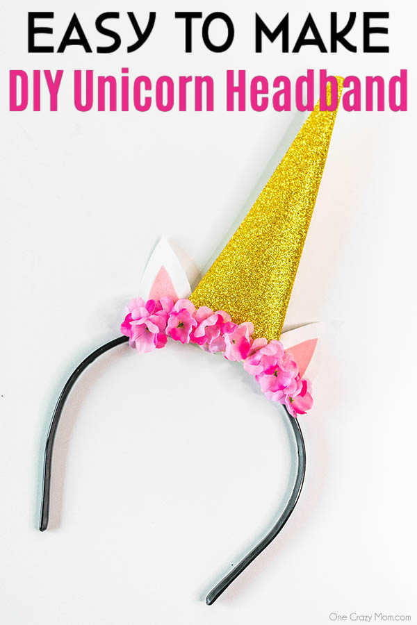 Save money and make this DIY Unicorn Headband with supplies from the dollar store! It is so easy to learn how to make a unicorn headband.