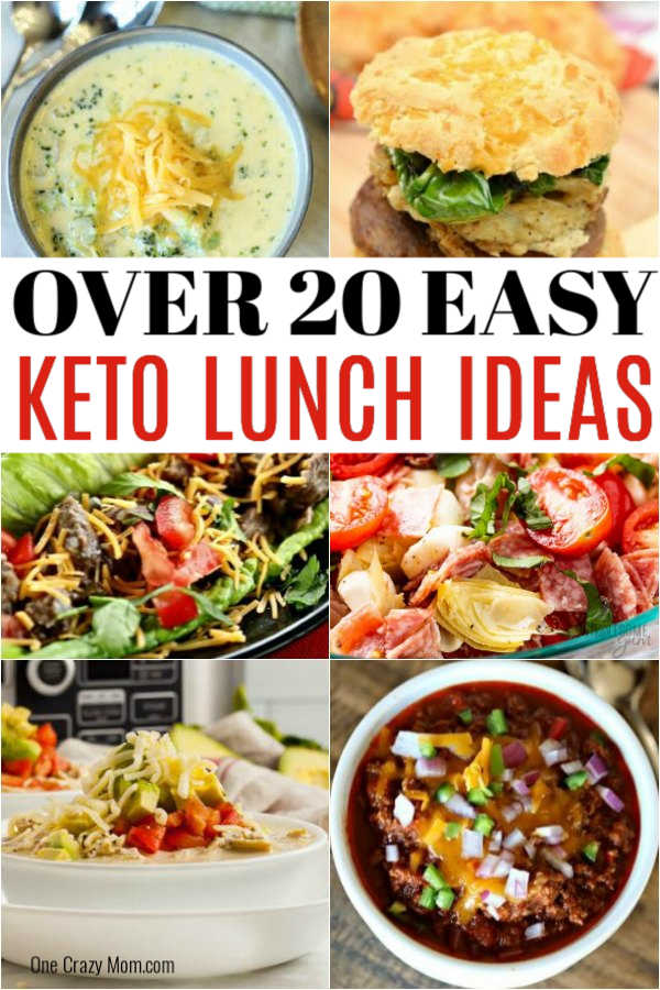 Find over 20 delicious Keto lunch ideas that are easy to prepare and loaded with flavor. Lunch might be your favorite meal with so many tasty recipes that are perfect to pack for work as well. #eatingonadime #ketorecipes #lunchrecipes