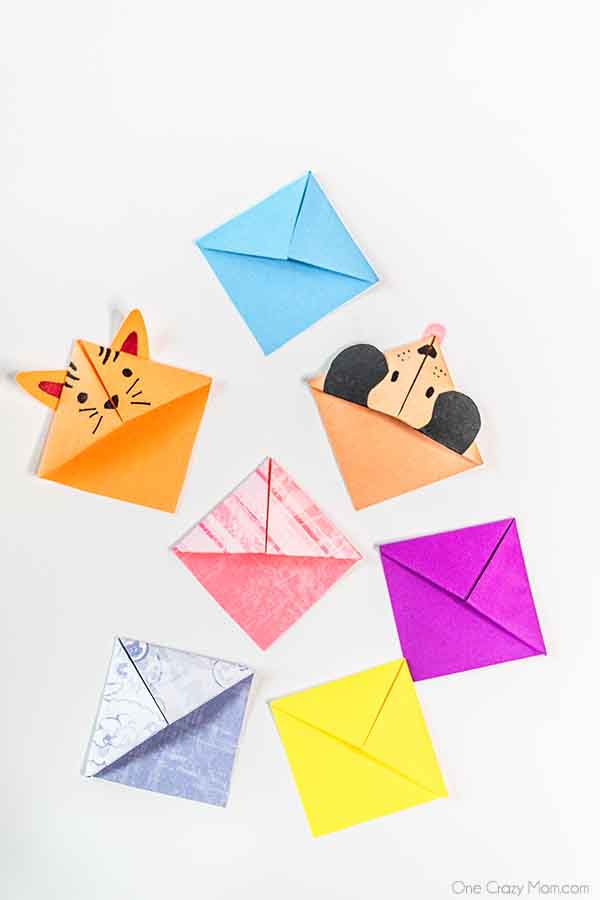 Give this origami bookmark a try for a fun activity for the kiddos. You only need 2 items to make this bookmark making it frugal, easy and fun!