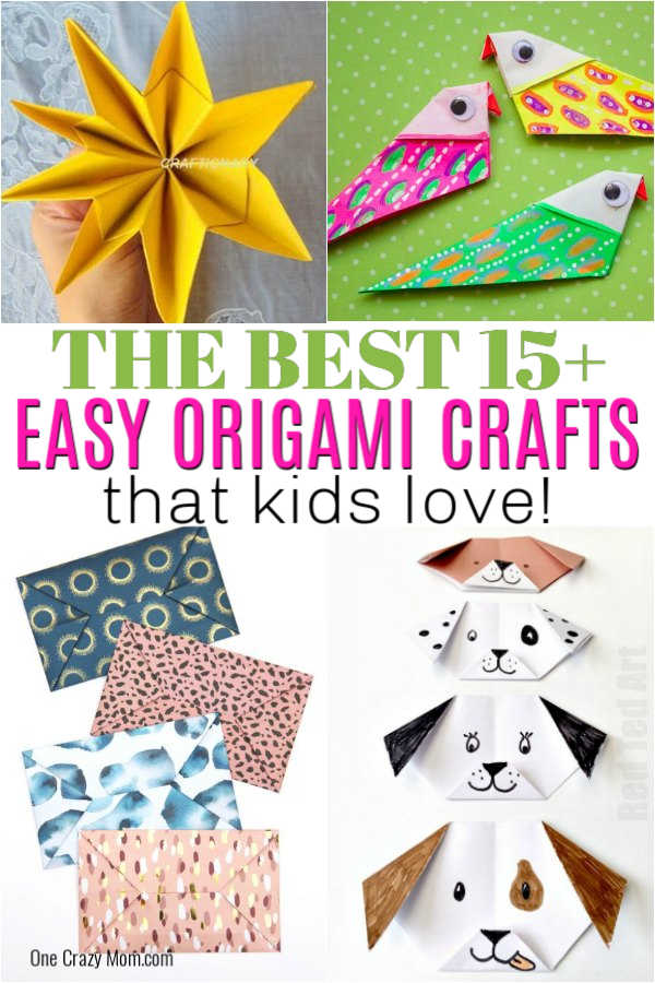 Origami is so fun and everyone will love these 15+ easy origami for kids ideas. There is something for everyone and kids of all ages will love these.