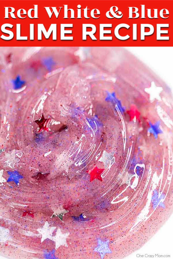 Our kids are crazy over slime and this 4th of July Slime diy is full of all things red, white and blue. Try this patriotic slime for a fun activity.