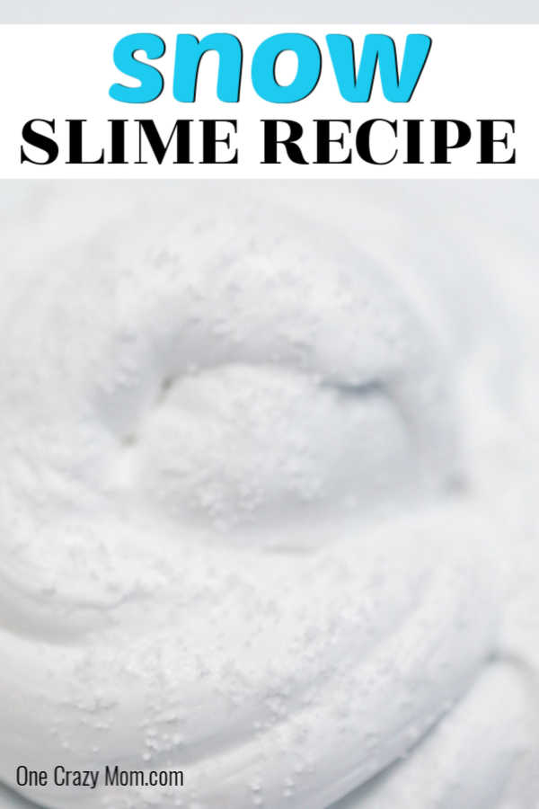 Snow Slime is so fun to make and only requires a few supplies. This is super easy and the kids will go crazy over this snow slime recipe.