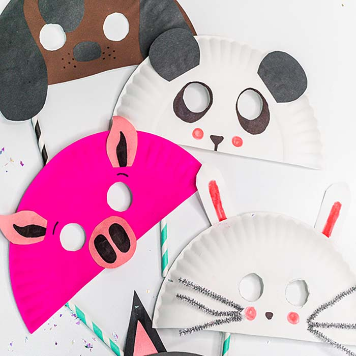 Animal paper plate masks are so simple and you probably already have all that you need at home! These are so easy that the kids can make several masks.