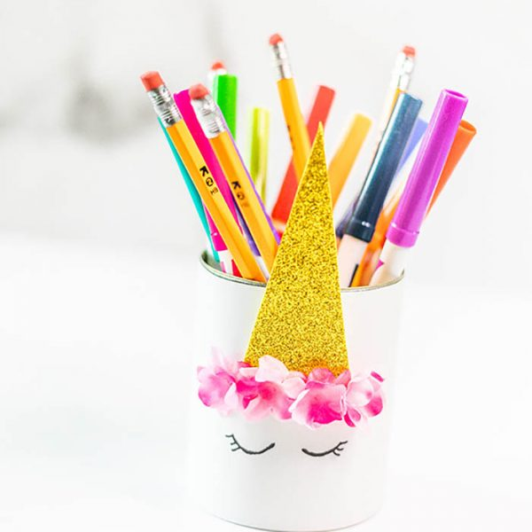 DIY Unicorn Pencil Holder – Easy Unicorn Craft