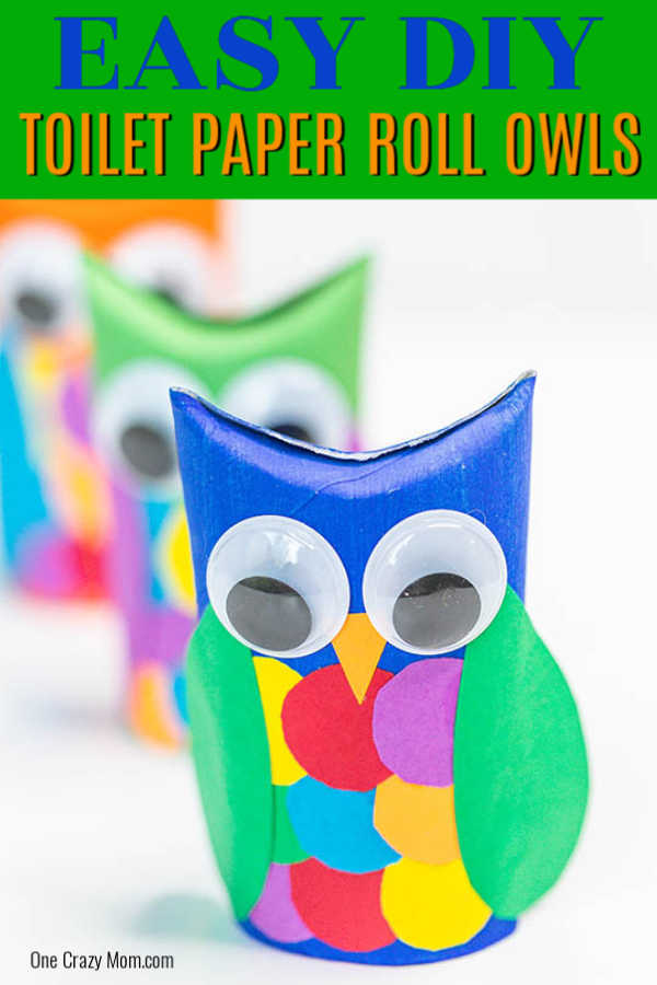 This adorable Owl toilet paper roll craft is so frugal to make and tons of fun. Save empty toilet paper rolls and transform them into this cute little owl.
