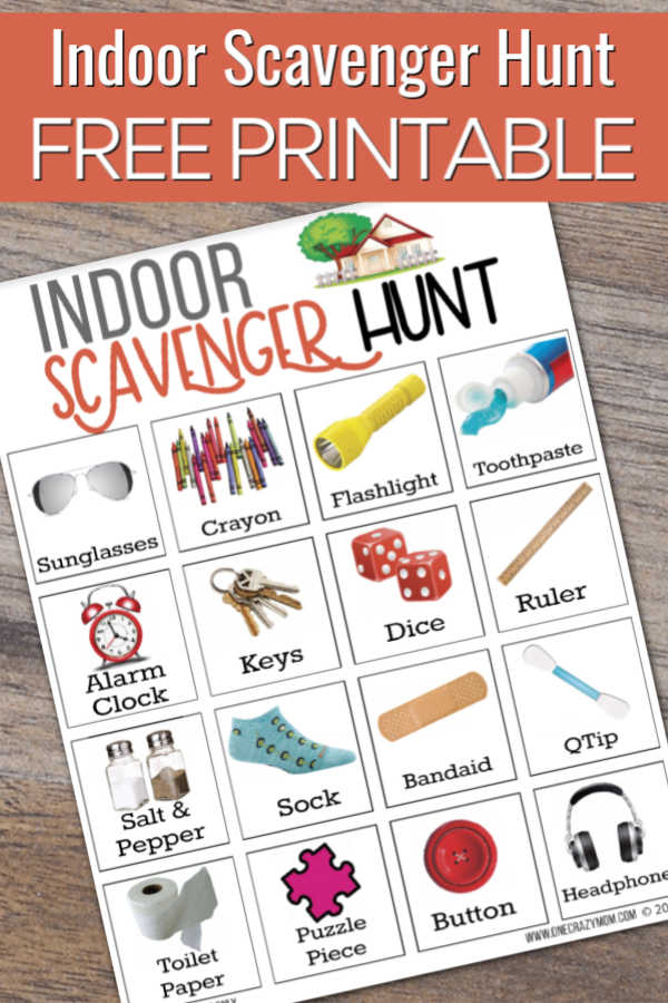 Indoor scavenger hunt for kids is the perfect activity to do when it is too hot or too rainy to play outside. Keep the kids busy with this free printable.