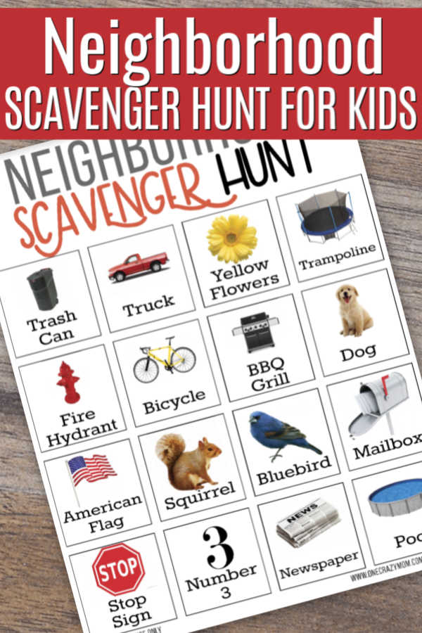 Are the kids bored? Try this fun Neighborhood scavenger hunt for kids. Get your free printable and get started with this neighborhood scavenger hunt.